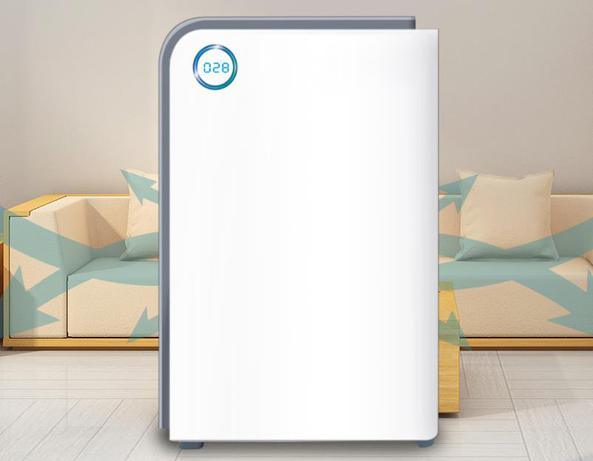 Air purifier with built-in dust concentration sensor