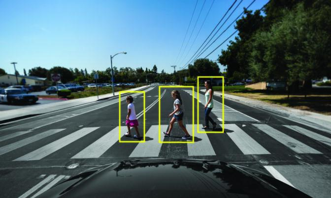 Self-driving cars use camera data to sense their environment