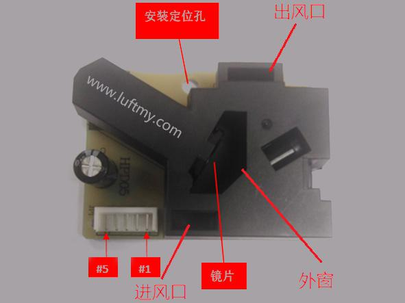 Working structure of pm2.5 particle dust sensor