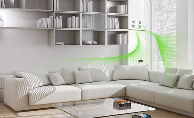 PM2.5 particle sensor applied in fresh air system